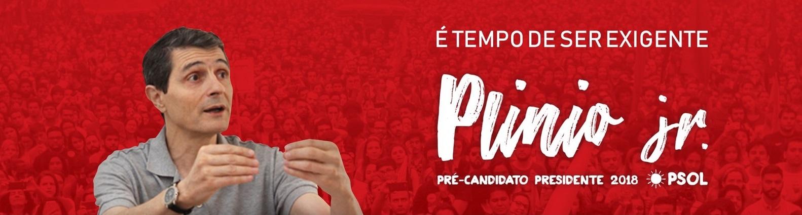 É tempo de ser exigente: Plínio Jr. presidente!